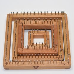 An assortment of square Pin Looms