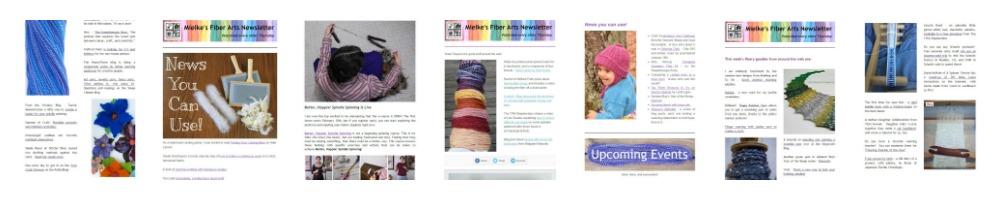 Mielke's Fiber Arts Newsletter