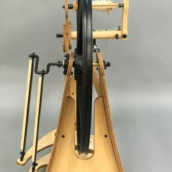 Back View of Flatiron Spinning Wheel